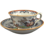 1850 Child's Tea Cup and Saucer