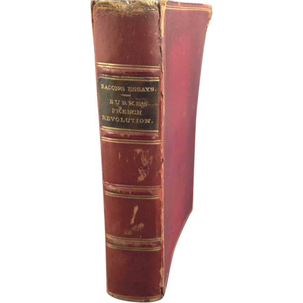 Leather Bound Book: Essays by Frances Bacon and The French Revolution ...
