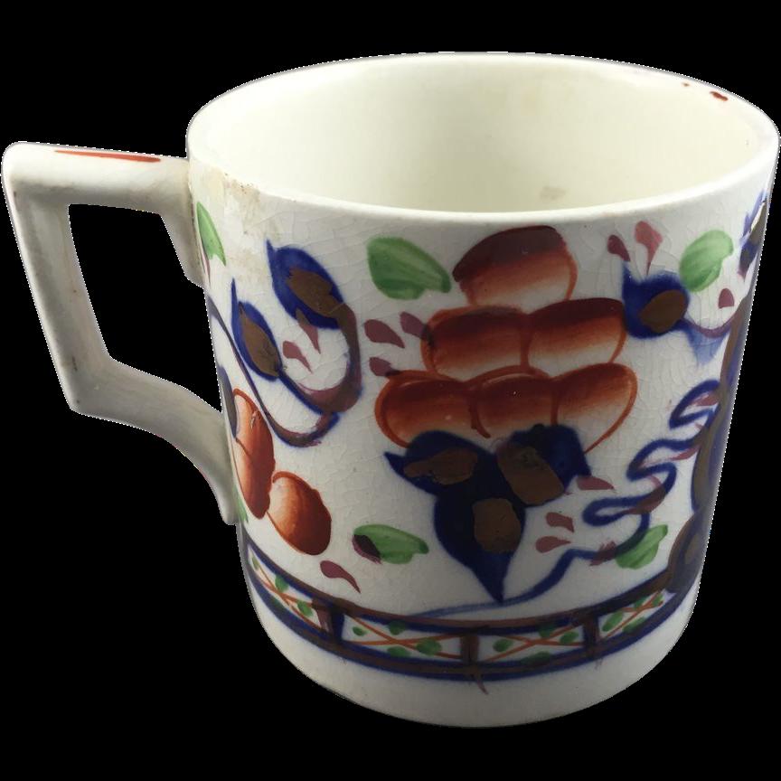 1912 Gaudy Welsh Mug  'Oyster'
