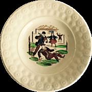 Child's 19th Century Staffordshire Transfer Ware Plate