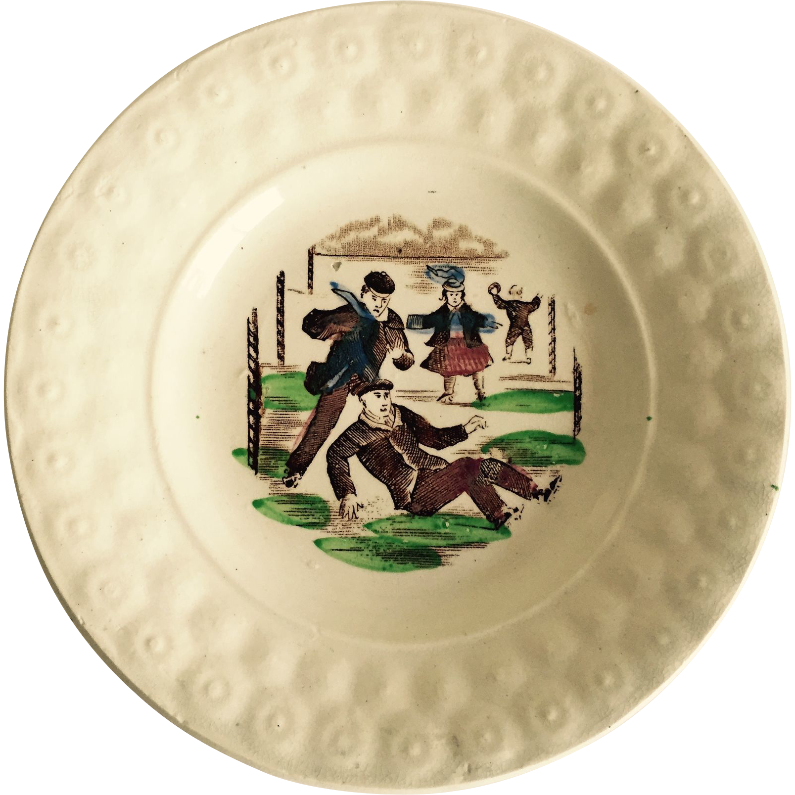 Child's 19th Century Staffordshire Transfer Ware Plate