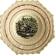 English Soft Paste/Pearlware Glaze Robinson Crusoe Child's Plate