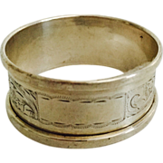1959 English Hallmarked Napkin Ring