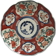 Imari Porcelain Dish, Bird's and Flower's Design