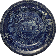 1822 Dark Blue Transferware