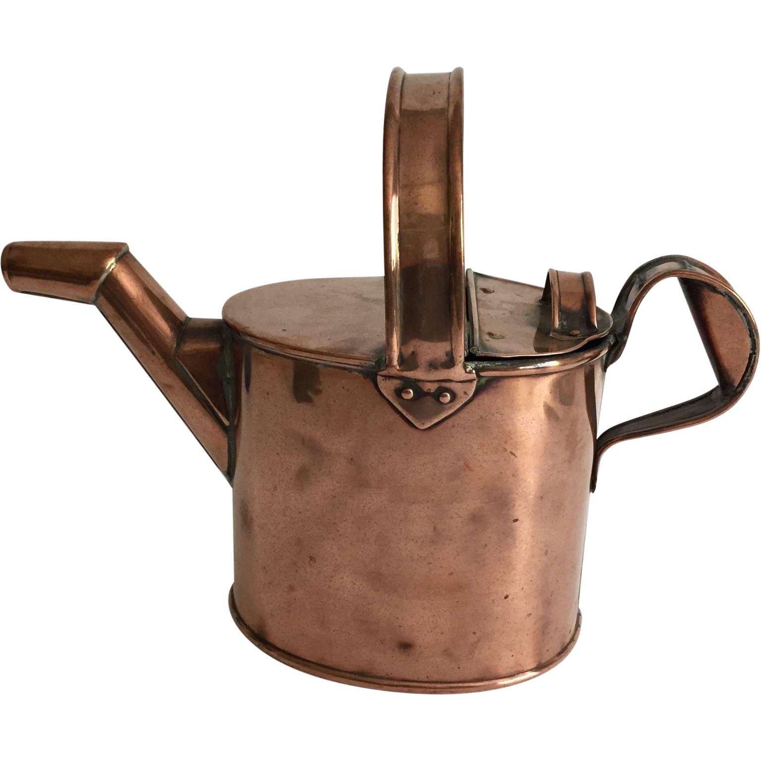 Vintage English Copper 'Hot Water' Can