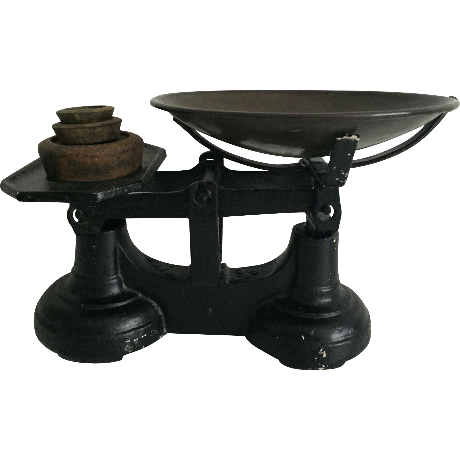 Cast Iron Kitchen Scale with Weights
