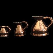 Victorian English Copper Jug Measurement set, 1860