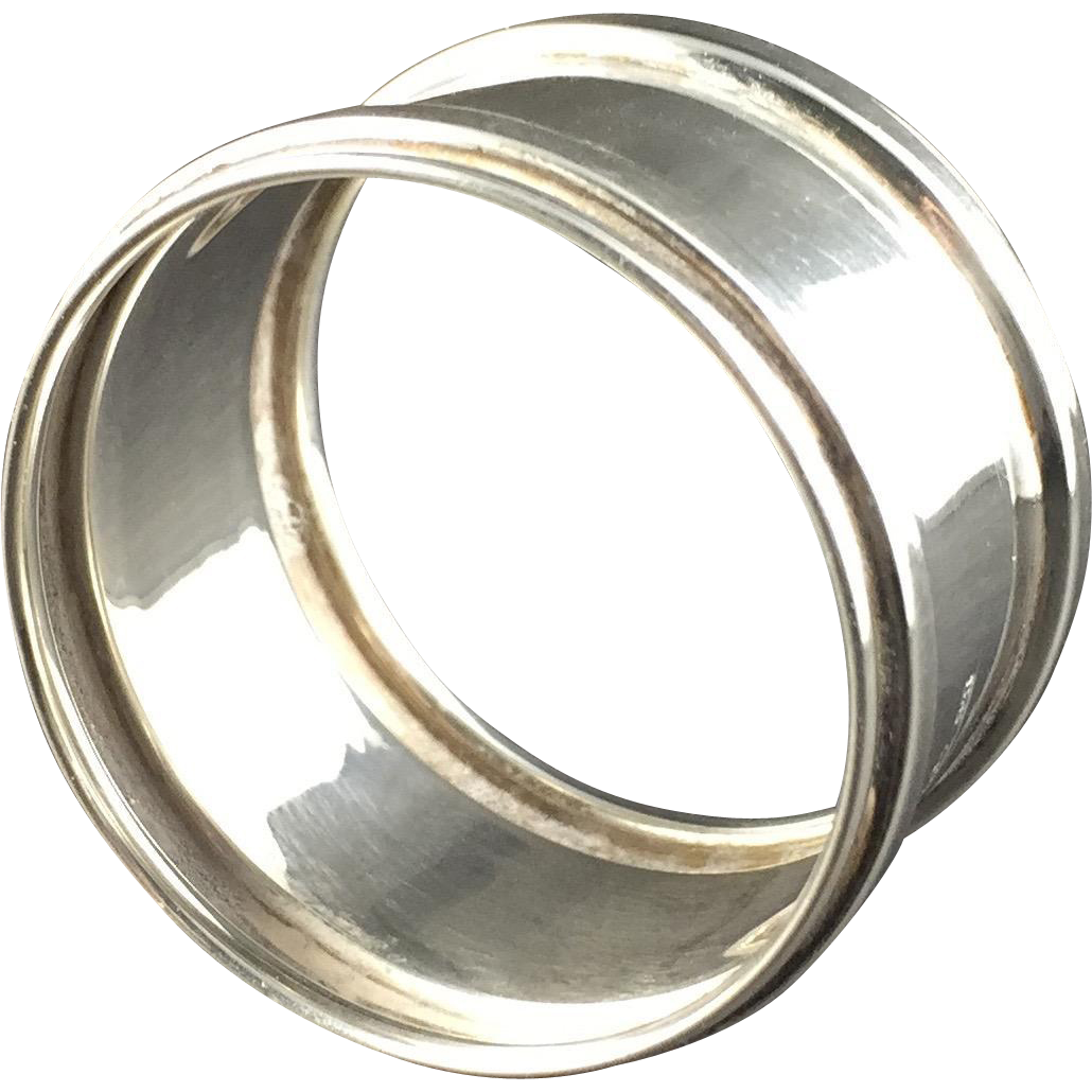 1911 English Hallmarked Sterling Silver Napkin Ring