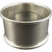 English Sterling Silver Napkin Ring  C. 1954