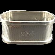 1914 English Sterling Silver Hallmarked Napkin Ring