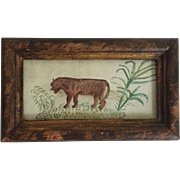 Naive Watercolor Painting by John Stocking, England, c. 1836 - 1899