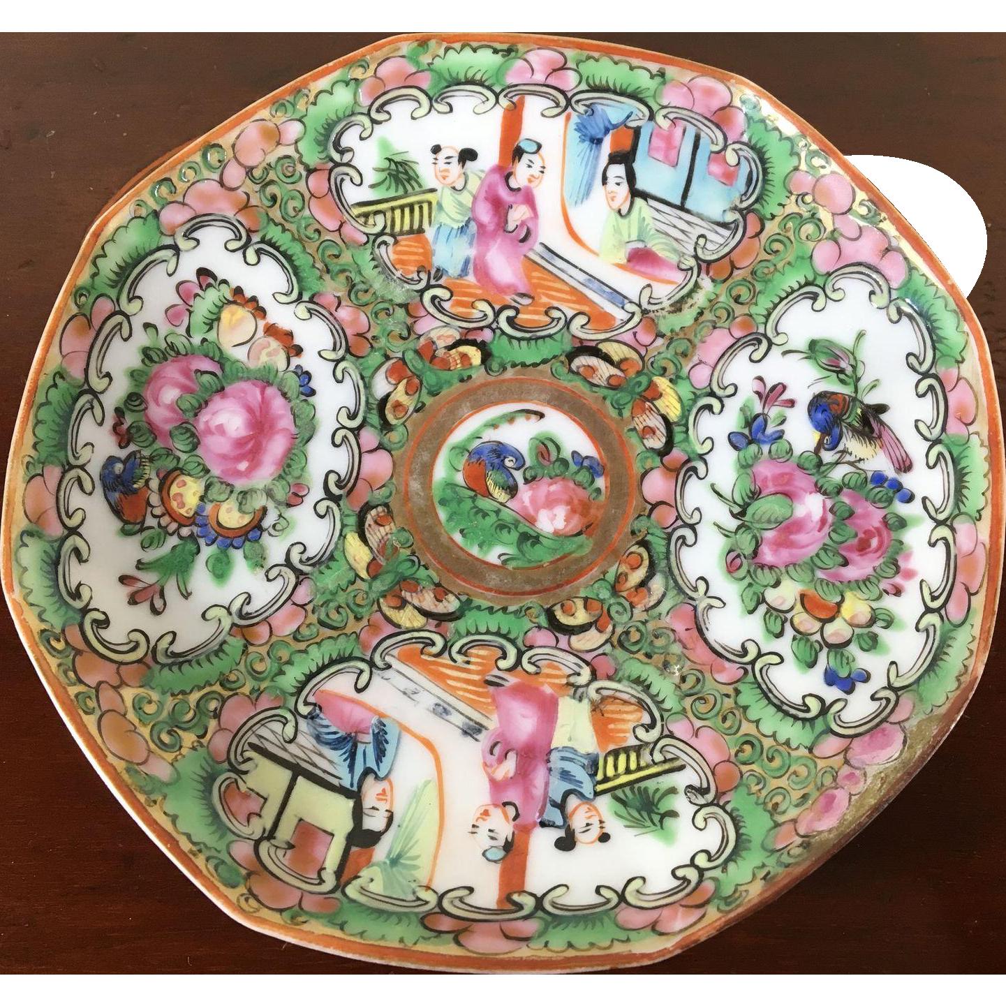 Rose Medallion Tea Plate