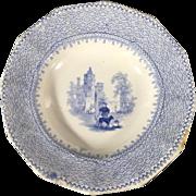 1850 English Transfer Ware Plate   'Honey Dish'
