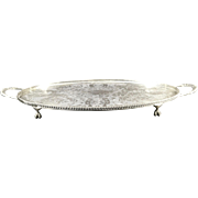 English Silver Plated Salver  C.1950