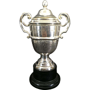 Vintage English Silver Plate Engineers Club Snooker League Winners Trophy