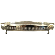 English Galley Silver Plated Salver
