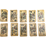 Industrie and Glück Antique French Suited Tarock Cards
