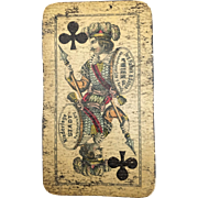 Antique Playing Card, Marked 'Ferd Piatnik' on Jack of Clubs