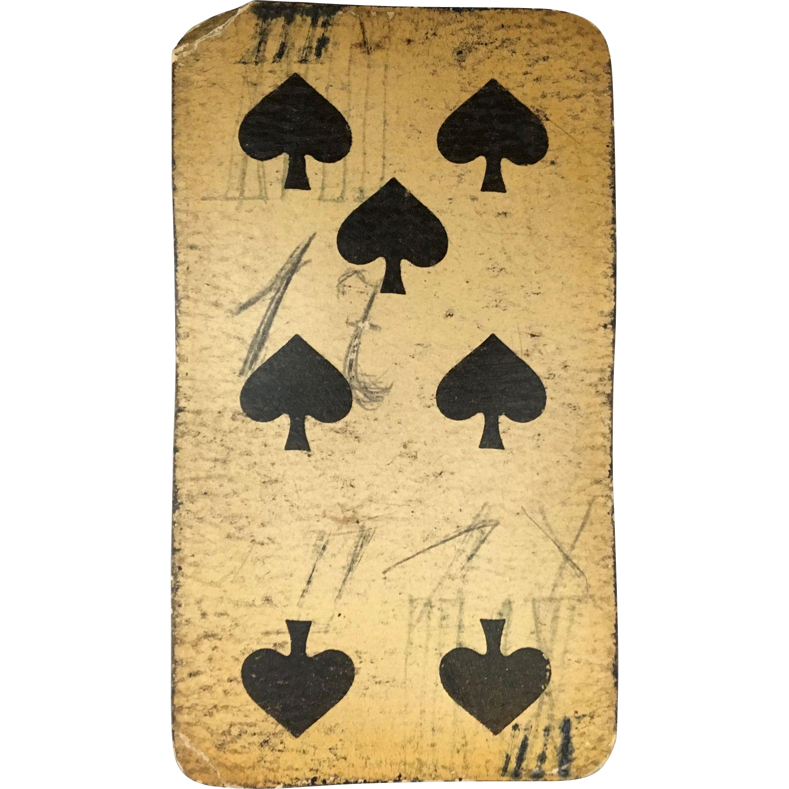 Seven of Spades Tarock Playing Card