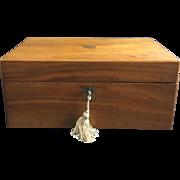 19th Century Light Walnut (Olive Wood) Portable Desk Writing Slope Box