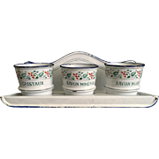 French Blue and White French Enamelware Laundry Set