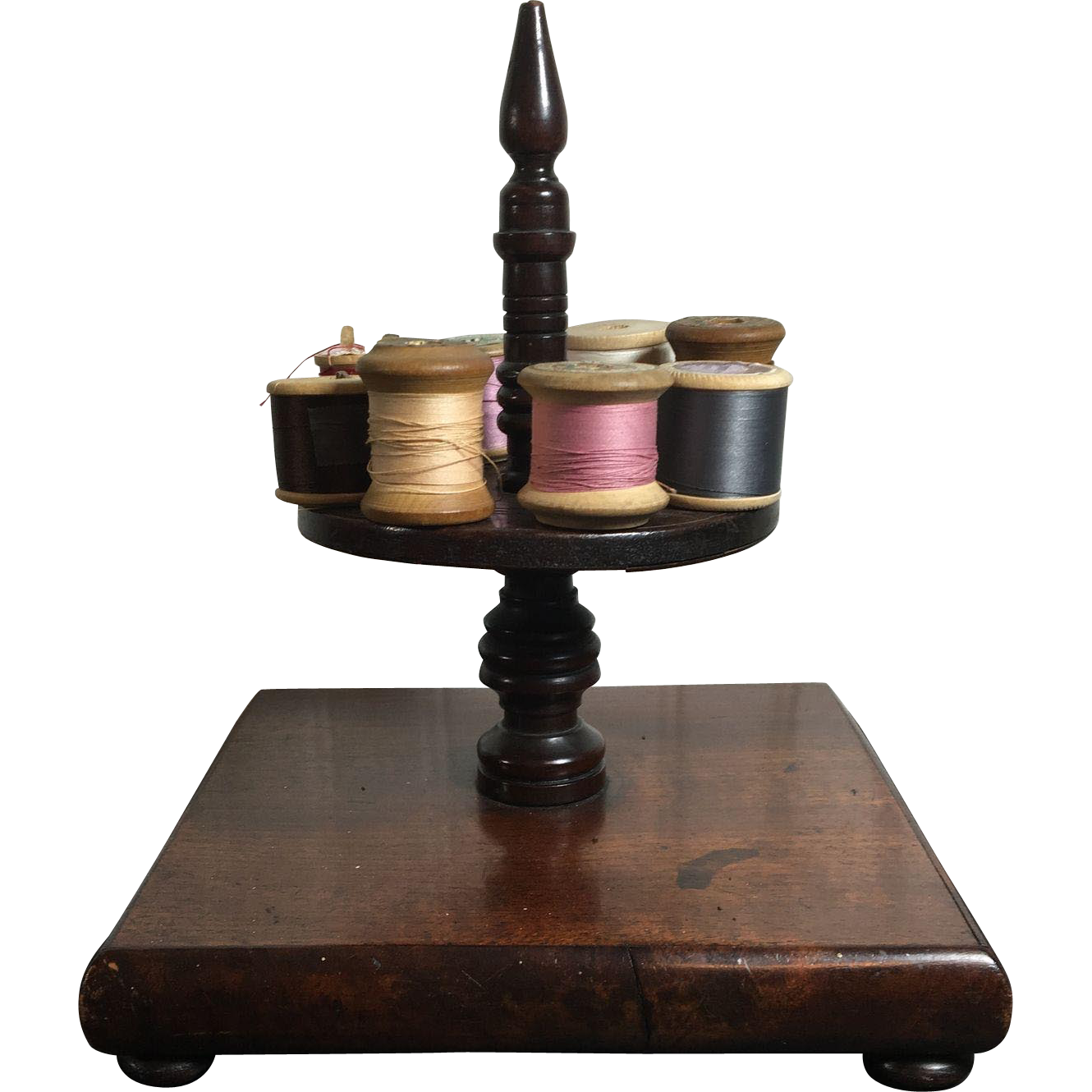 English Wooden Thread Spool Holder  c.1900