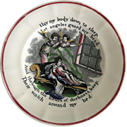 "C.1851 Child's ""Piety and Virtue"" Transferware Plate"