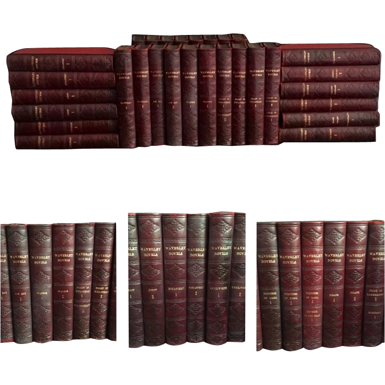 30 Volume Set of Waverley Novels by Sir Walter Scott, 1825