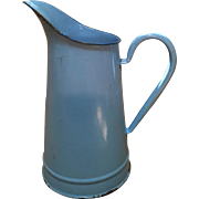 French-Blue Enamel Ware Jug