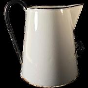 C. 1900-1930 English Graniteware Pitcher Water Jug