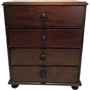English Miniature Chest Chest with 4 Drawers