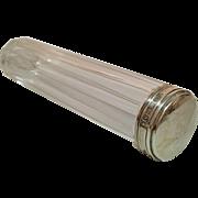 English Hallmarked Silver Top Toiletry Bottle