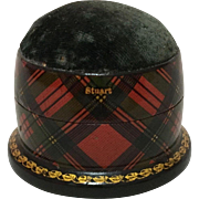 "Tartan Ware Pin Cushion  ""Stuart"""