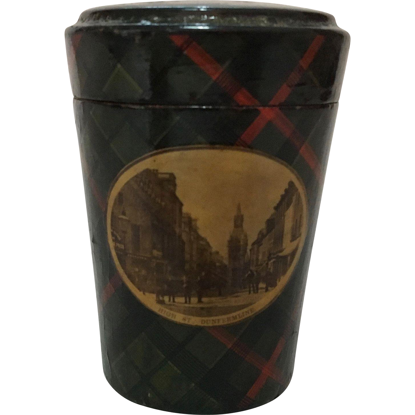 Tartan Ware Beaker/Shot Glass Holder and Glass