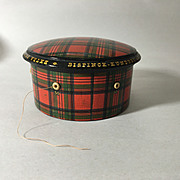 Large Tartan Ware Thread Dispenser, 'Stuart'