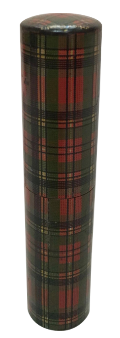 C.1890-1910 Tartan Ware Crochet Container, 'Prince Charles' Clan