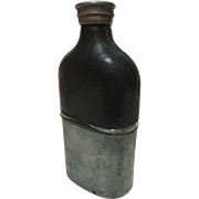 Pewter with Leather English Flask
