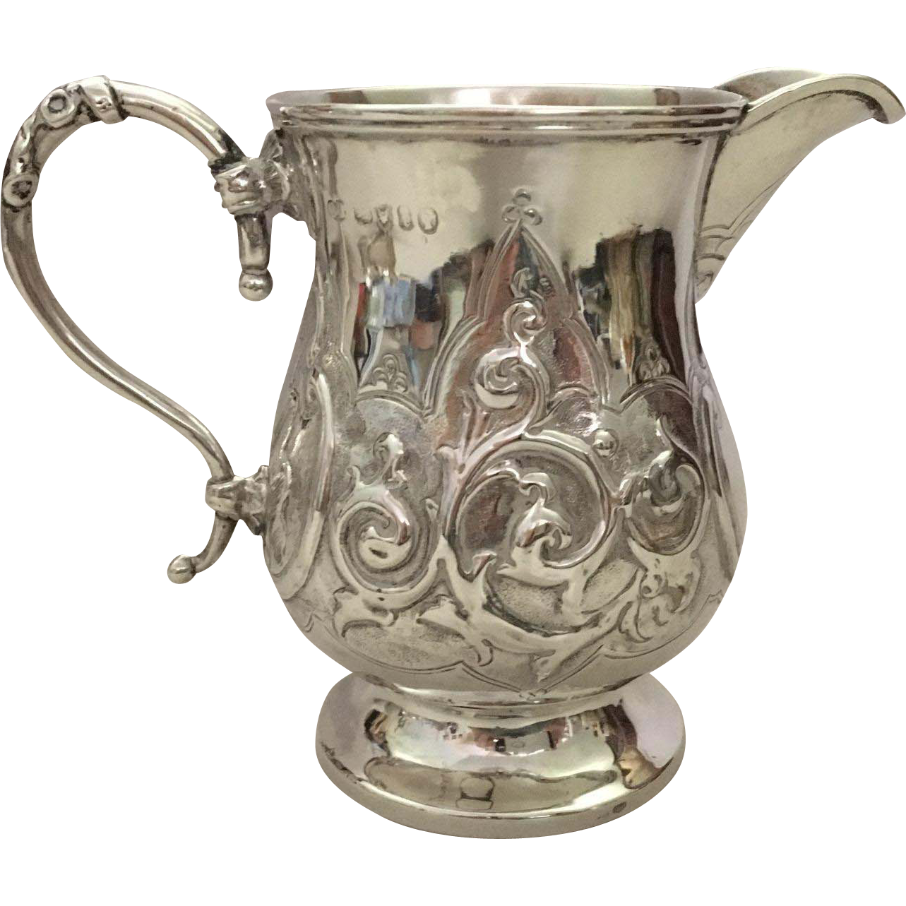 English Sterling Silver Milk Pitcher, Hallmarked, London, 1864