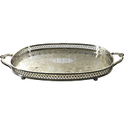 English Silver Plated Gallery Tray