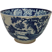 1820 Blue and White Handleless Cup