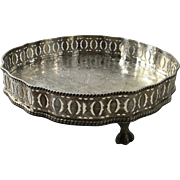 English Silver Plated on Copper Salver