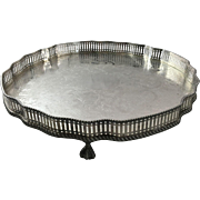 English Salver Silver Plated on Copper  C.1950