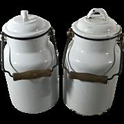 Pair of Enamel Ware Milk Pails