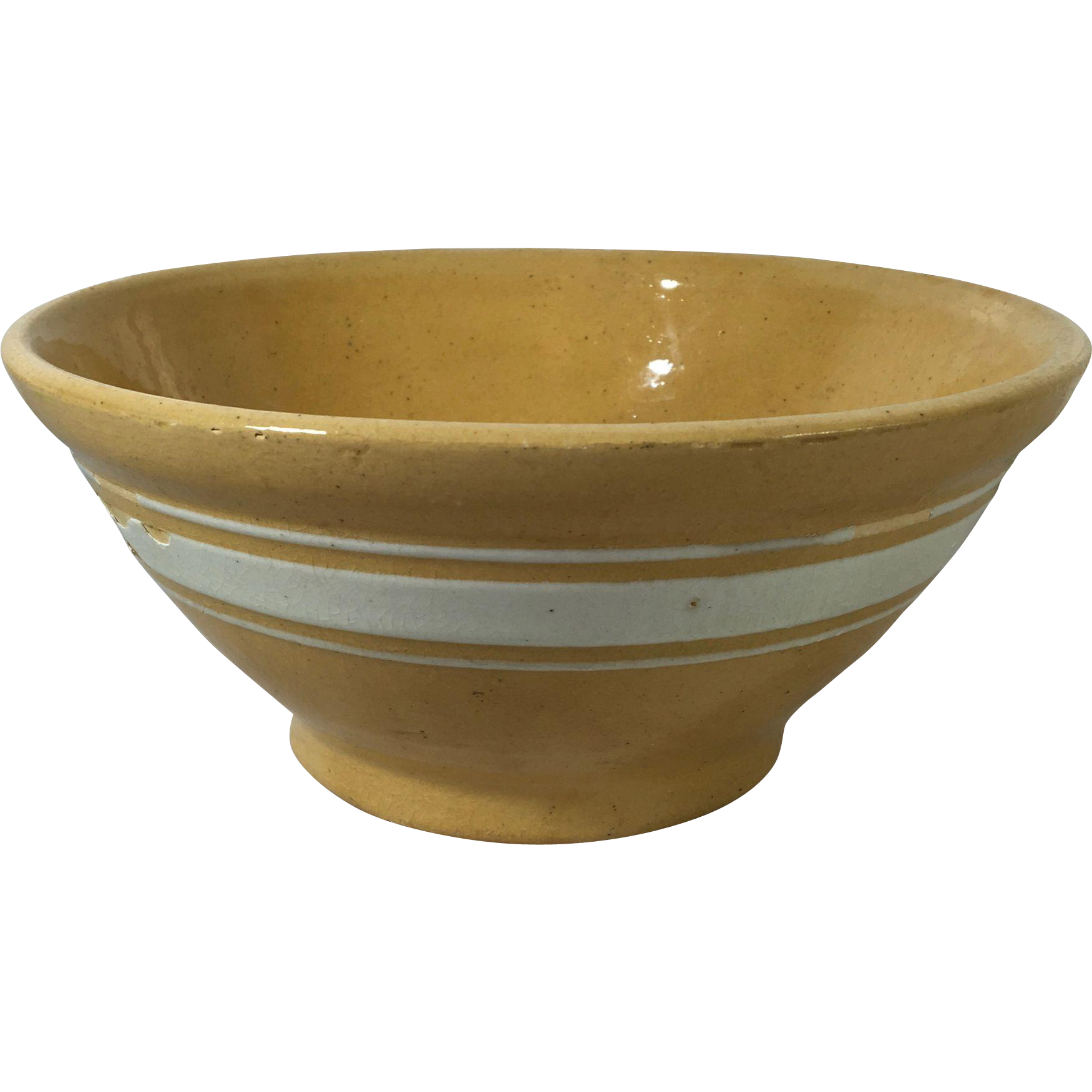 1930 American Yellow Ware Bowl