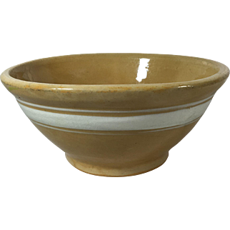 1930 Yellow Ware Mixing Bowl