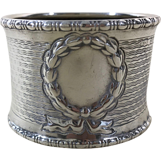 English Sterling Silver Napkin Ring 1911
