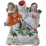 "English Staffordshire Figurine ""Sweet Hearts"" 1880"