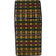 Engish Victorian Tartanware Needle Case   C1880