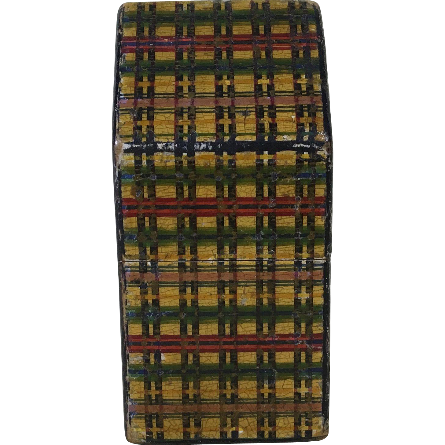 Engish Victorian Tartanware Needle Case   C1880